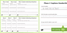 Phase 2 Captions Handwriting Activity Sheet
