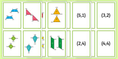 * NEW * 2D Shape Coordinate Translation Matching Cards