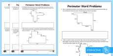 * NEW * Y5 Perimeter Word Problems Go Respond Activity Sheet