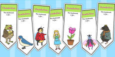 Thumbelina Editable Bookmarks