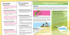 PlanIt - Geography Year 5 - Enough for Everyone Planning Overview CfE