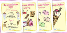 Australia - Ice Cream Parlour Role Play Display Posters
