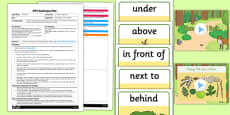 Prepositions Activity EYFS Adult Input Plan and Resource Pack to Support Teaching on Stick Man