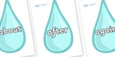 KS1 Keywords on Water Droplets