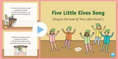 Five Little Elves Song PowerPoint