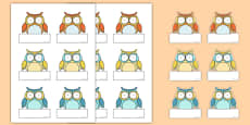Superb Owl Themed Self-Registration Labels