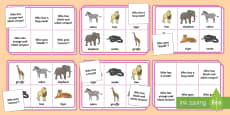 Who Wild Animals Lotto Bingo