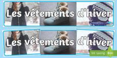 Photos de vêtements d'hiver Banderole d'affichage