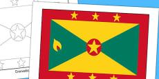 Grenada Flag Display Poster