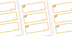 Puma Themed Editable Drawer-Peg-Name Labels (Blank)