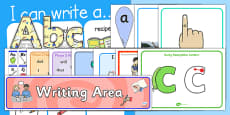 EYFS Writing Area Classroom Set Up Pack