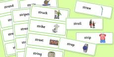 STR Word Cards