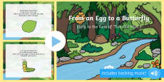 From an Egg to a Butterfly Song PowerPoint