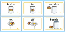 Positional Language Butterfly Display Posters
