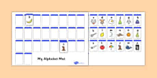 AZ Alphabet Mat Cut and Stick Activity