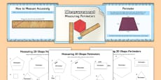 Measuring the Perimeter of 2D Shapes Differentiated Lesson Teaching Pack