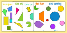 2D Regular and Irregular Shape Posters French