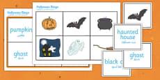 Halloween Bingo Arabic Translation