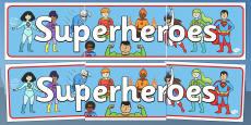 Superhero Display Banner