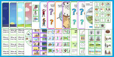 * NEW * When Question Word LSA Activity Pack