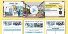 KS1 Victorian Hospitals Information PowerPoint Activity Pack