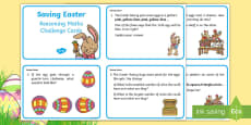 * NEW * Year 1 Saving Easter Reasoning Maths Challenge Cards