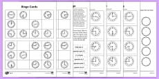 * NEW * Telling the Time Activities Resource Pack