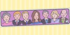 Australia - Royal Family Editable Banner for Publisher