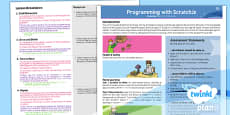 PlanIt - Computing Year 1 - Programming with ScratchJr Planning Overview