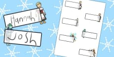 The Snow Queen Editable Self Registration