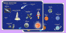 Space Word Mat Arabic Translation
