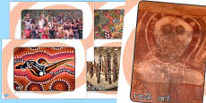 Aboriginal Art Display Photos