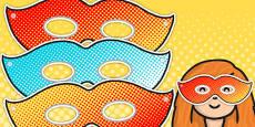 Superhero Themed Birthday Party Masks