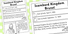 Isambard Kingdom Brunel Significant Individual Fact Sheet