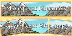 Magnificent Mountains Display Banner
