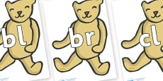 Initial Letter Blends on Old Teddy Bears