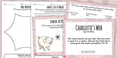 Charlotte's Web Inspired Instruction Writing Lesson Teaching Pack