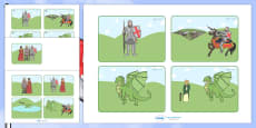 St George And The Dragon Story Sequencing Cards