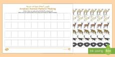 * NEW * Arabian Animals Pattern Activity Sheet Arabic/English