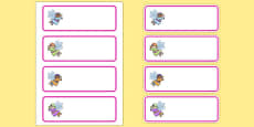 Editable Drawer - Peg - Name Labels (Fairies)