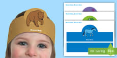 Role Play Headbands Brown Bear to Support Teaching on  Brown Bear