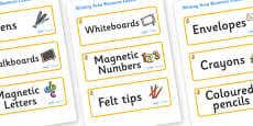 Cat Themed Editable Writing Area Resource Labels