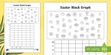 Easter Themed Count and Graph Activity Sheet