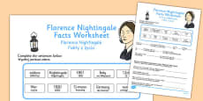 Florence Nightingale Fact Worksheets Polish Translation