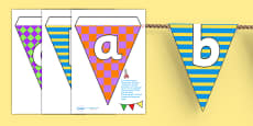 Pretty Pattern Themed Alphabet Bunting