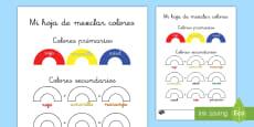 Ficha de actividad: Mezclar colores
