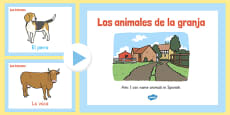 PowerPoint de vocabulario - animales de la granja