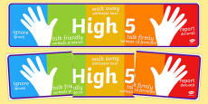 High Five How To Deal With Bullying Display Banner Romanian Translation