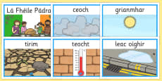 Gaeilge Weather Display Posters