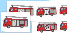 Numbers on Fire Engines 0-10